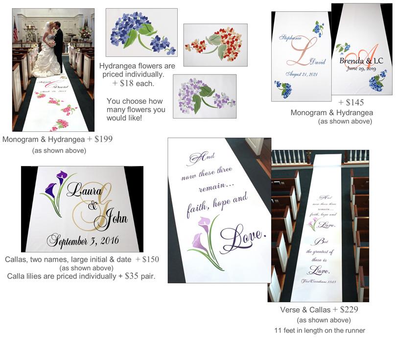 Custom wedding aisle runner designs | Designing the Aisle